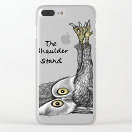 Shoulder stand Clear iPhone Case