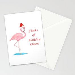 Flamingo Christmas Cheer Stationery Cards