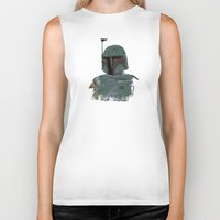 boba Biker Tanks featuring Boba Fett by Hey!Roger