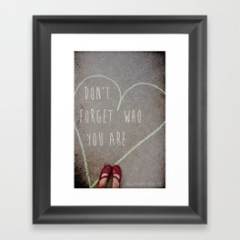 Who you are Framed Art Print