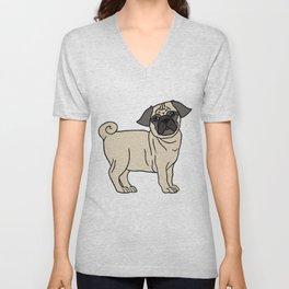 Pug-licious! Unisex V-Neck