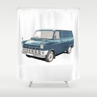 ford Shower Curtains featuring Ford Transit Mark 1 by Rik Reimert