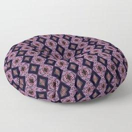 Pink Modern Tribal Diamond and Stripe Tile Floor Pillow