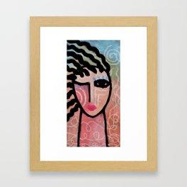 Sunshine Abstract Portrait of a Woman Framed Art Print