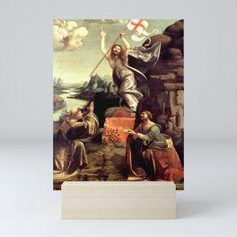 "Giovanni Antonio Boltraffio ""The Resurrection of Christ with the Saint Leonard of Noblac and Lucia"" Mini Art Print"