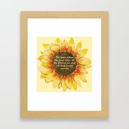 The Word of our God will stand forever Framed Art Print