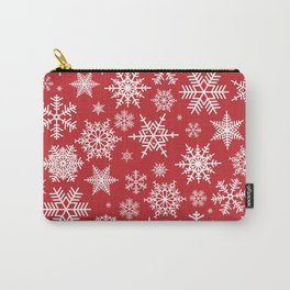 Christmas background with snowflake pattern Carry-All Pouch
