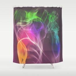 Multi-colored smoke Shower Curtain