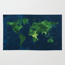 Nature World Map Rug