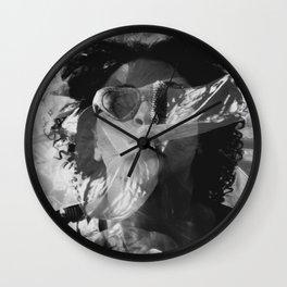 Layered Reality blowing kisses Wall Clock