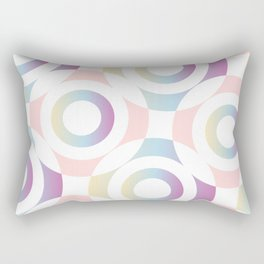 Circle composition in soft pastel colors Rectangular Pillow