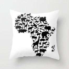 Animals of Africa Throw Pillow