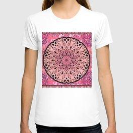 Boho Coral Mandala Lace T-shirt