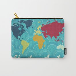 Adventure Awaits World Map Carry-All Pouch