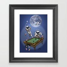 Anti-Gravity Bank Shot Framed Art Print