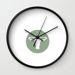 Sorry I Ovary-Acted Female Funny Uterus T-Shirt Wall Clock