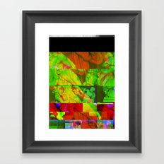 Poseidon Glitch 01 Framed Art Print