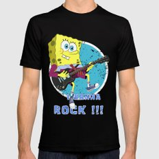i wanna rock !!! Mens Fitted Tee Black MEDIUM