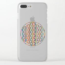 Flower of Life Colored | Kids Room | Delight Clear iPhone Case