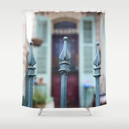 French Quarter Gate Shower Curtain