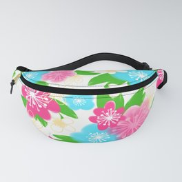04 Pattern of Watercolor Flowers Fanny Pack
