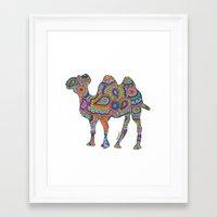 camel Framed Art Prints featuring Camel  by Shanaabird