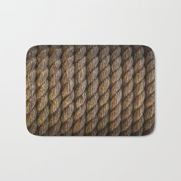 Tight round rope pattern Bath Mat