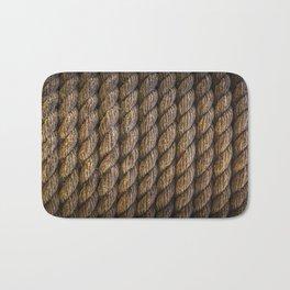 Tight round rope pattern Bath Mat