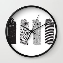 a study of lighters Wall Clock