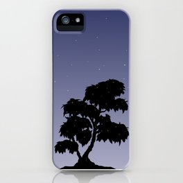 Firefly Tree Sunset with Stars iPhone Case