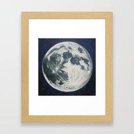 Moon Portrait 3 Framed Art Print