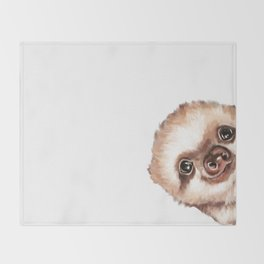 Sneaky Baby Sloth Throw Blanket