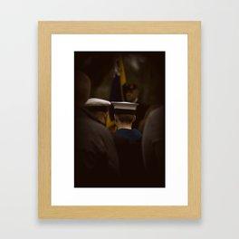 Rememberance day 2011 - Falmouth Framed Art Print
