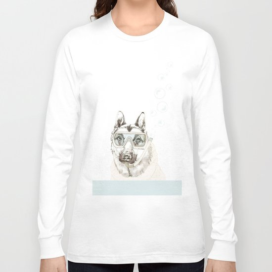 Diver Dog Long Sleeve T-shirt