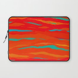 Ripped Turquoise Sunset Sky Laptop Sleeve