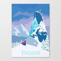 frozen Canvas Prints featuring Frozen by TheWonderlander