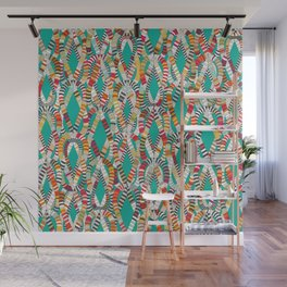 knot drop turquoise Wall Mural