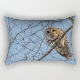 End of day Barred Owl Rectangular Pillow