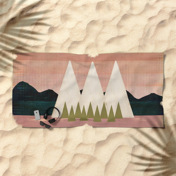 Climb Every Mountain Beach Towel