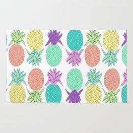 pineapple white Rug