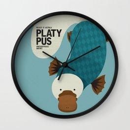 Hello Platypus Wall Clock