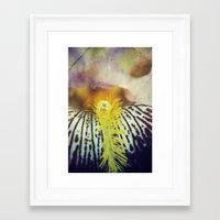 iris Framed Art Prints featuring Iris by KunstFabrik_StaticMovement Manu Jobst