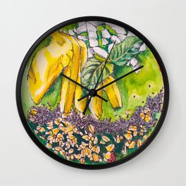 Green Smoothie Bowl Wall Clock