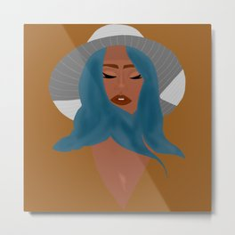 Mindful Woman Art Print Metal Print