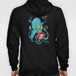Michelle's Coffee Drinking Octopus Hoody