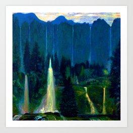 Arthur Bowen Davies Many Waters Art Print