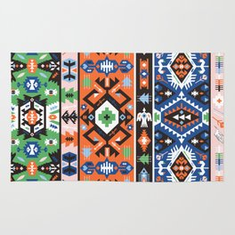Tribal chic seamless colorful patterns Rug