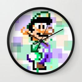 Super Mario Pixel Cubism - Luigi Wall Clock