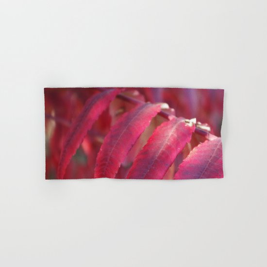 Radiant Red Sumac Leaves Hand & Bath Towel