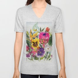 exotic flowers and more Unisex V-Neck